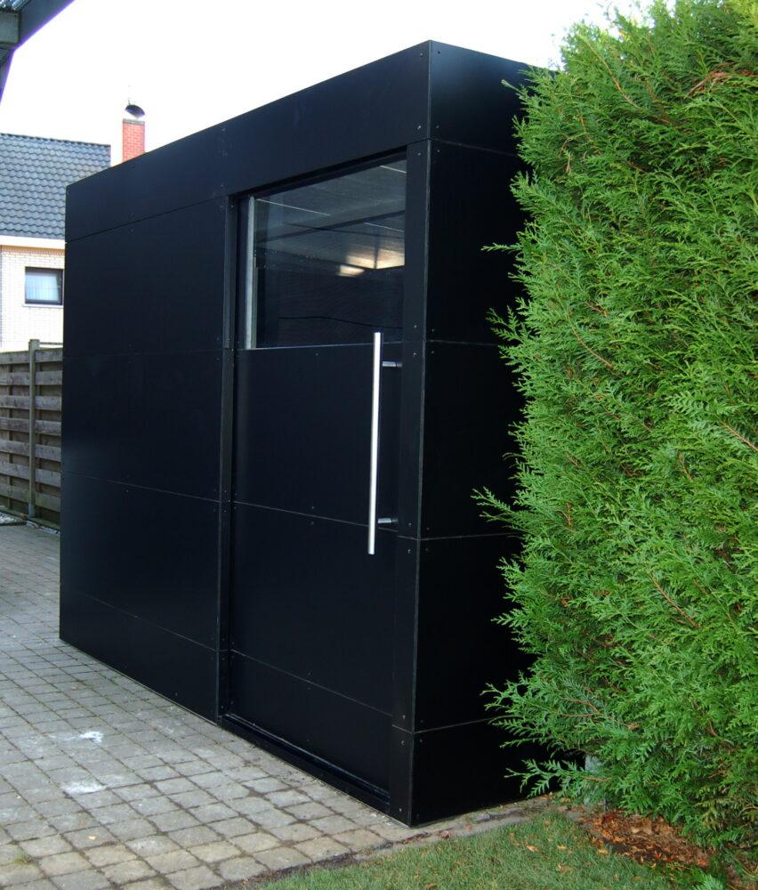 Hedendaags Tuinhuis zwart – MPS Aluminium – Oostakker SL-96